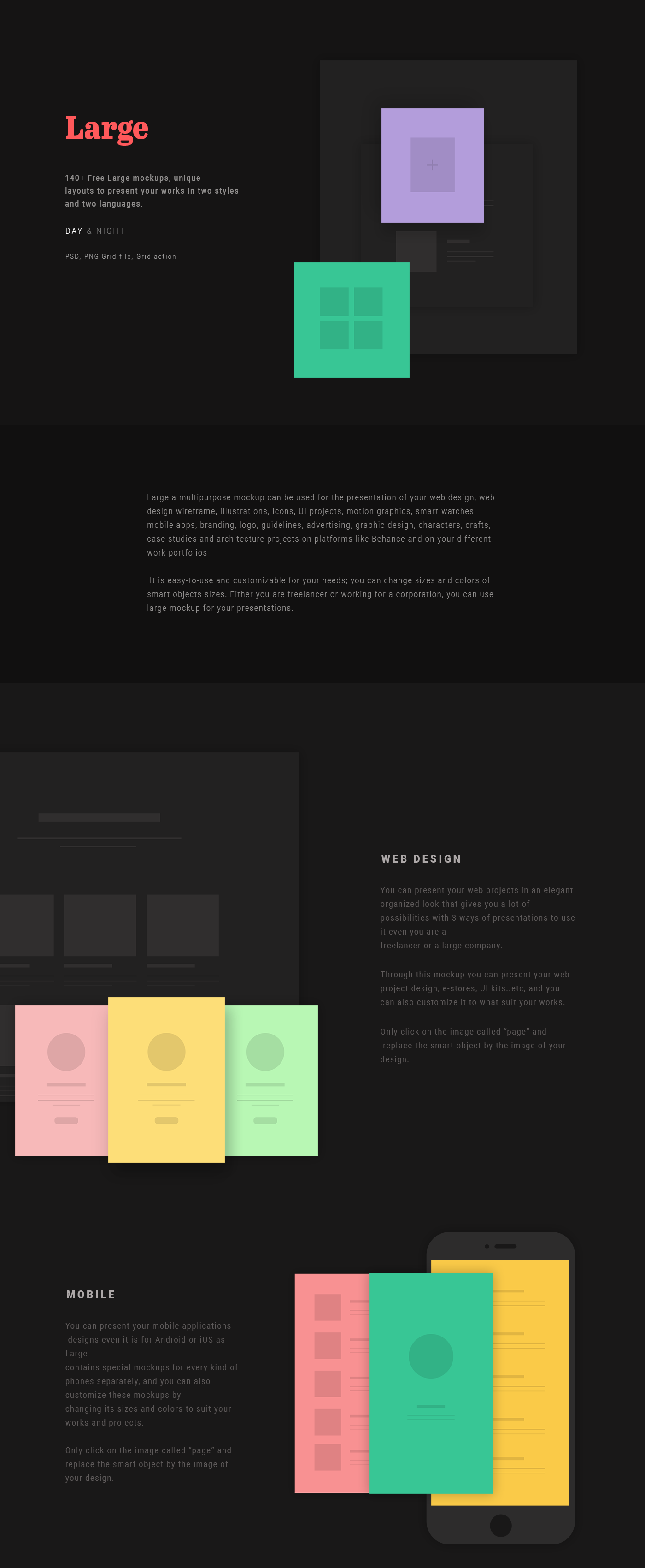 140+ Mockup Layouts Present Work