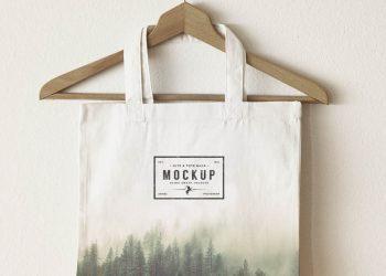 3 Jute Tote Bags Mockup
