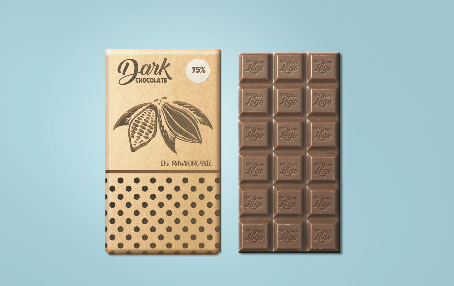 Free Chocolate Packaging Mockup PSD