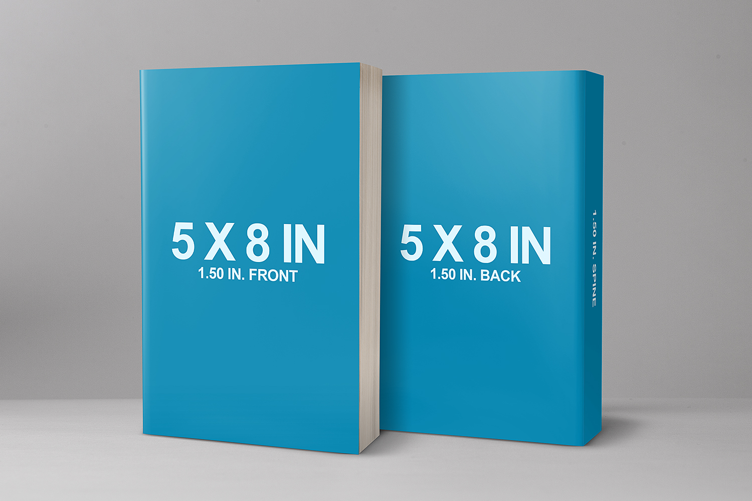 5 x 8 Cover Book Mockup Front & Back