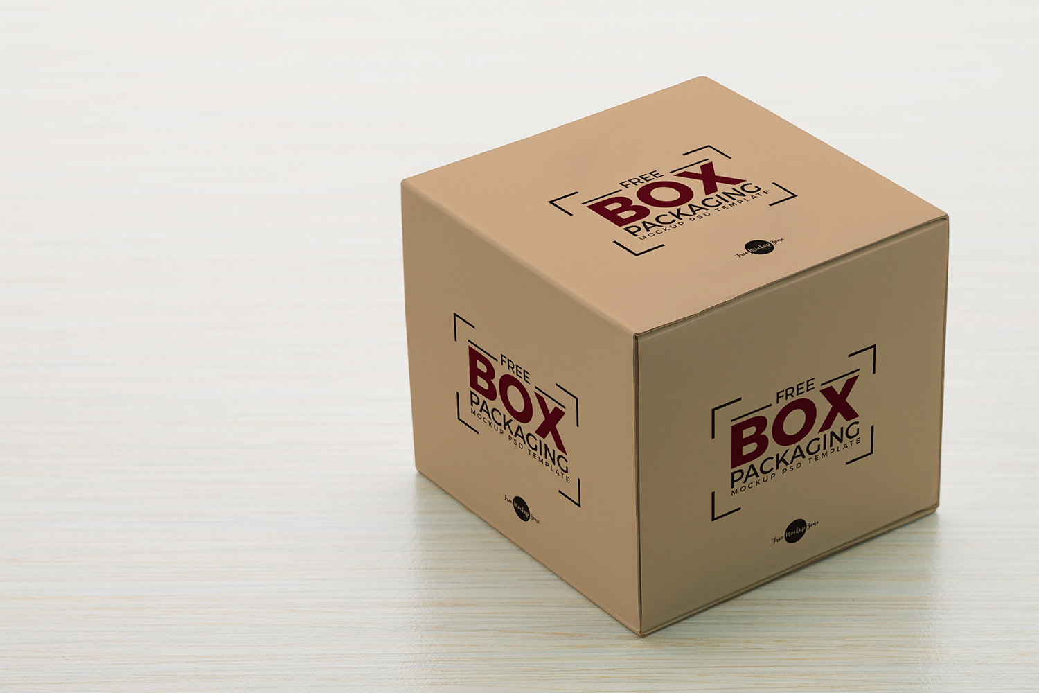 Free Box Packaging Mockup PSD