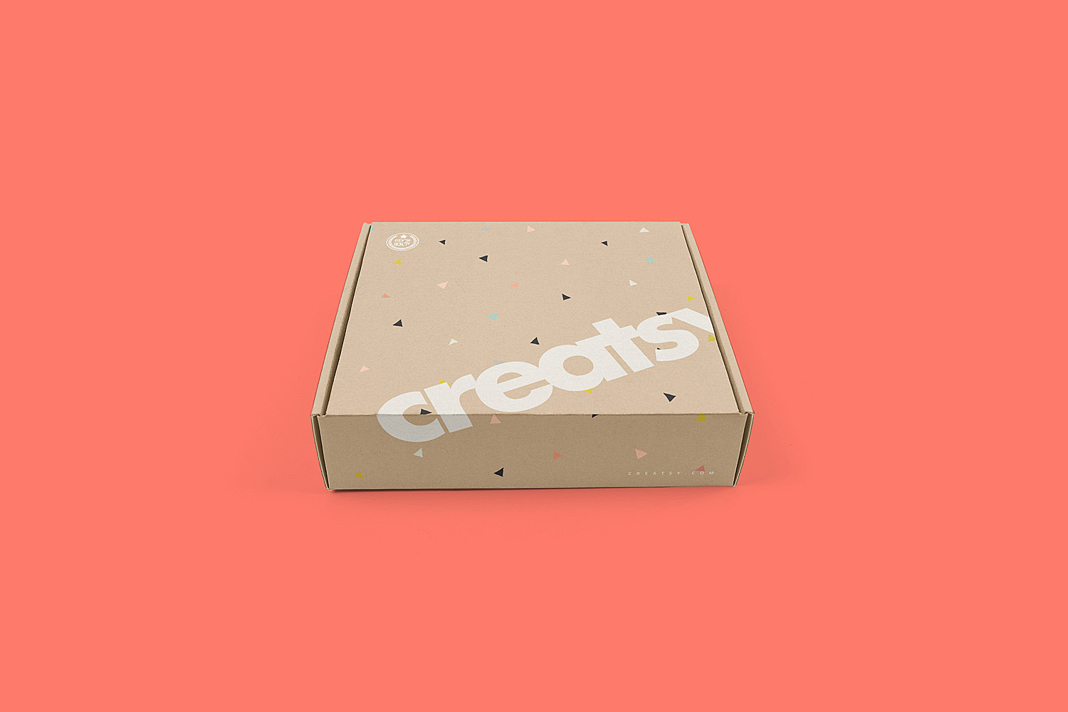 Mailing Box Packaging Mockup