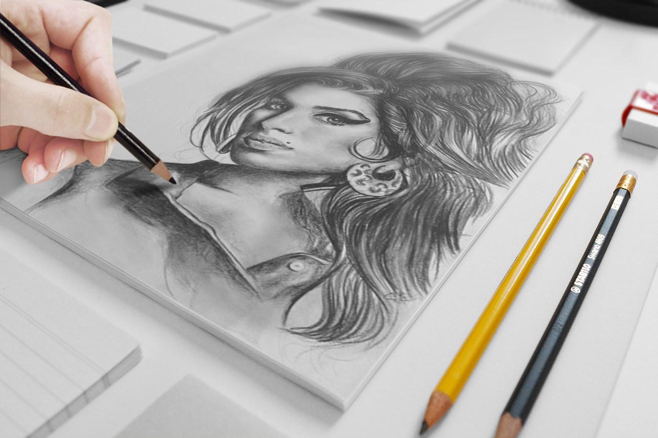Artist Sketch Mockup