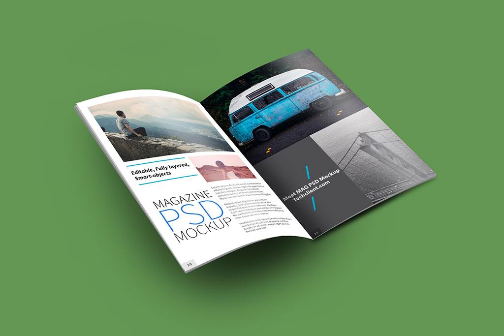Free A4 Brochure Mockup PSD