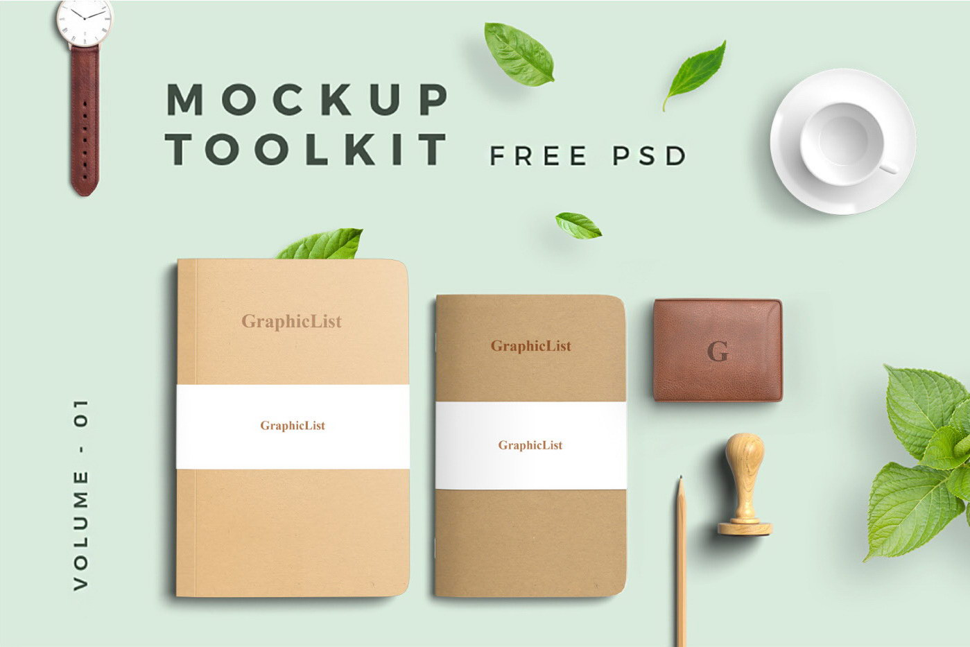 Free Mockup Toolkit Set Vol 01