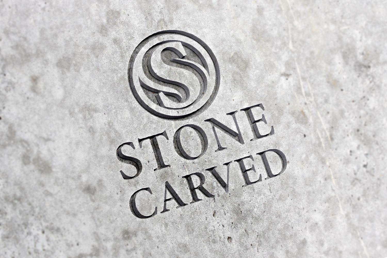 Stone Carved Logo Mockup