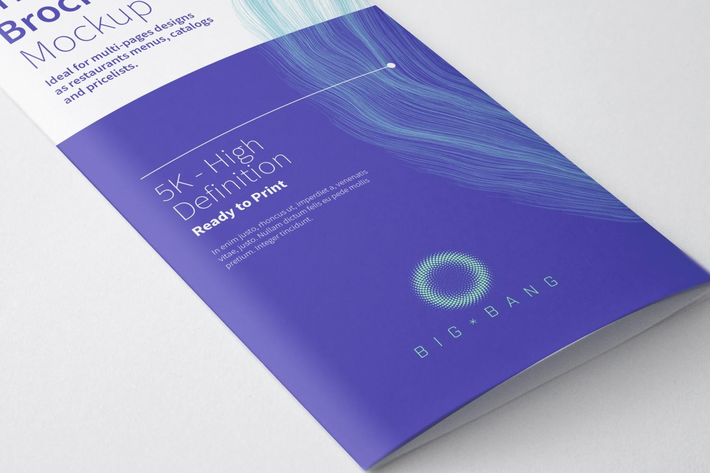 Tri-Fold Brochure Free PSD Mockup