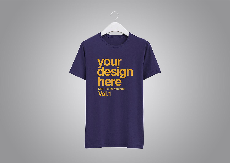 Free Realistic T-Shirt PSD Mockup
