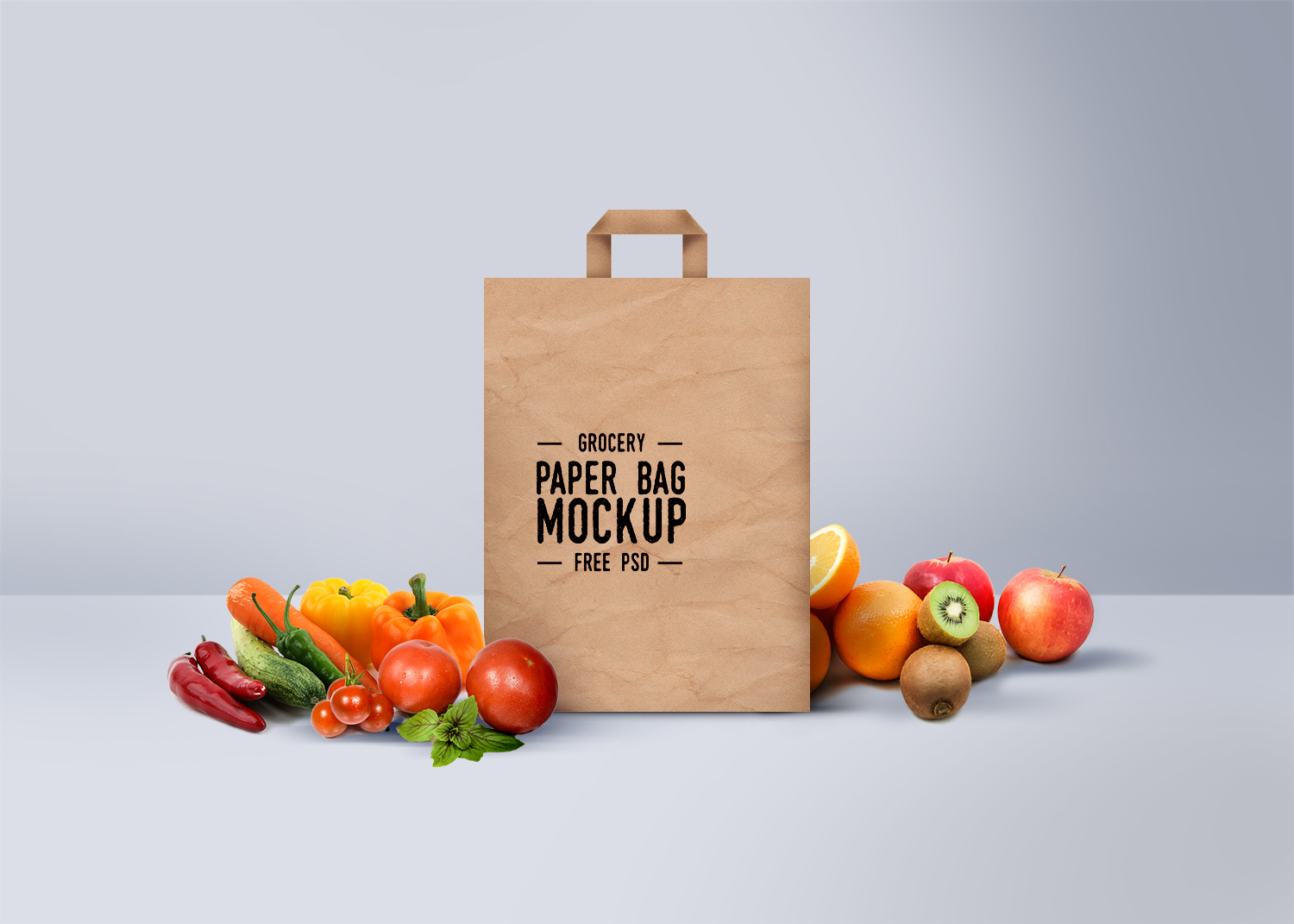 Free Shopping Paper Bag Mockup