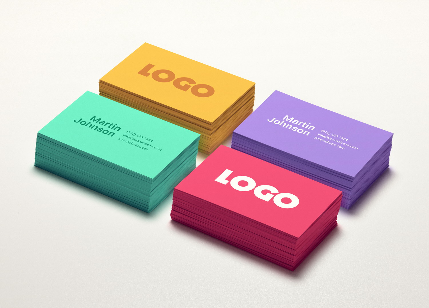 Colorful Business Card PSD Mockup