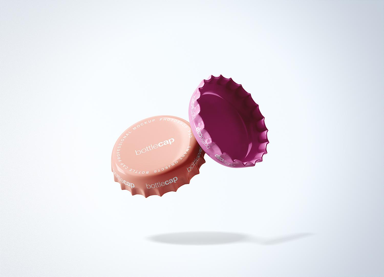 Soft Drink Bottle Cap Mockup PSD