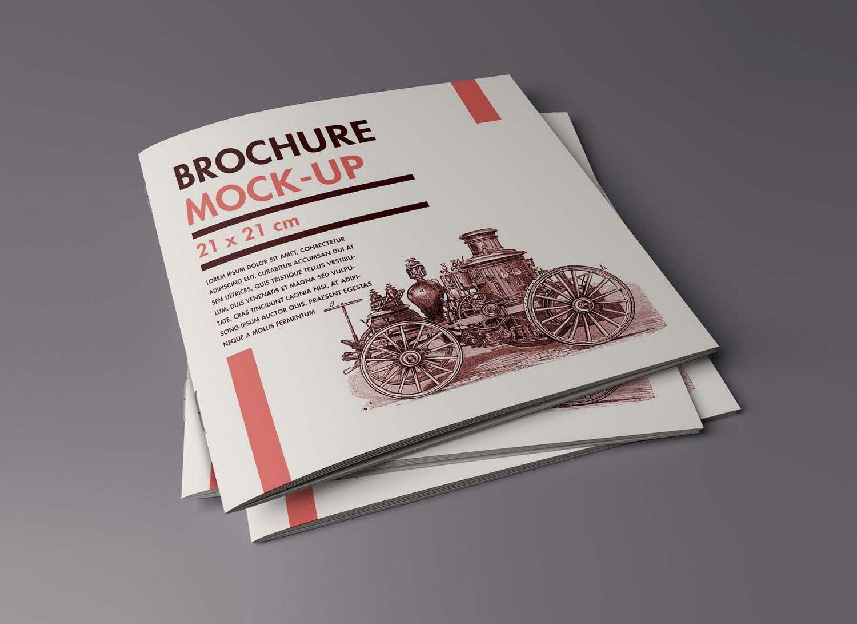 Free Title Inside Brochure PSD Mockup