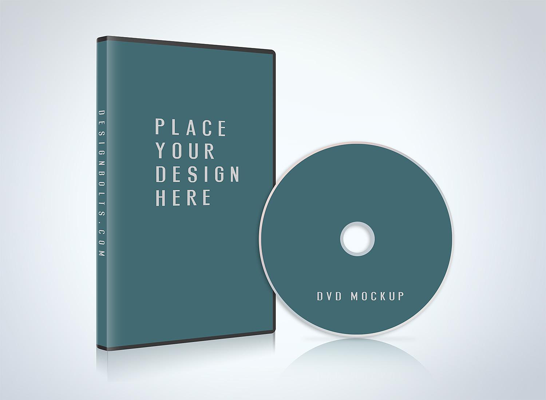 CD/DVD Case Disc Cover Mockup PSD