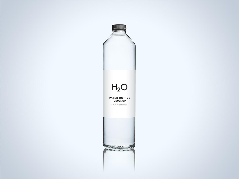 Clean Water Bottle Mockup PSD