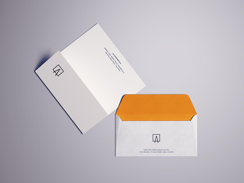 Envelope Letterhead Mockup PSD
