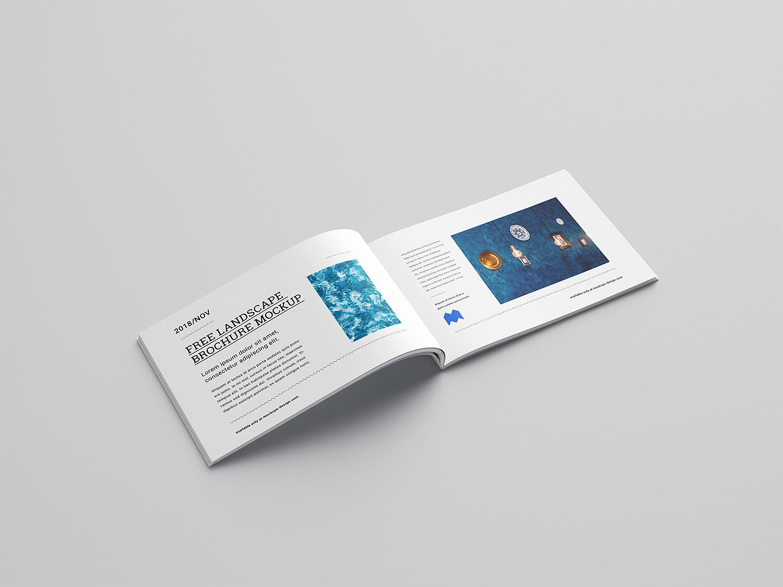 Free Landscape Brochure Mockup