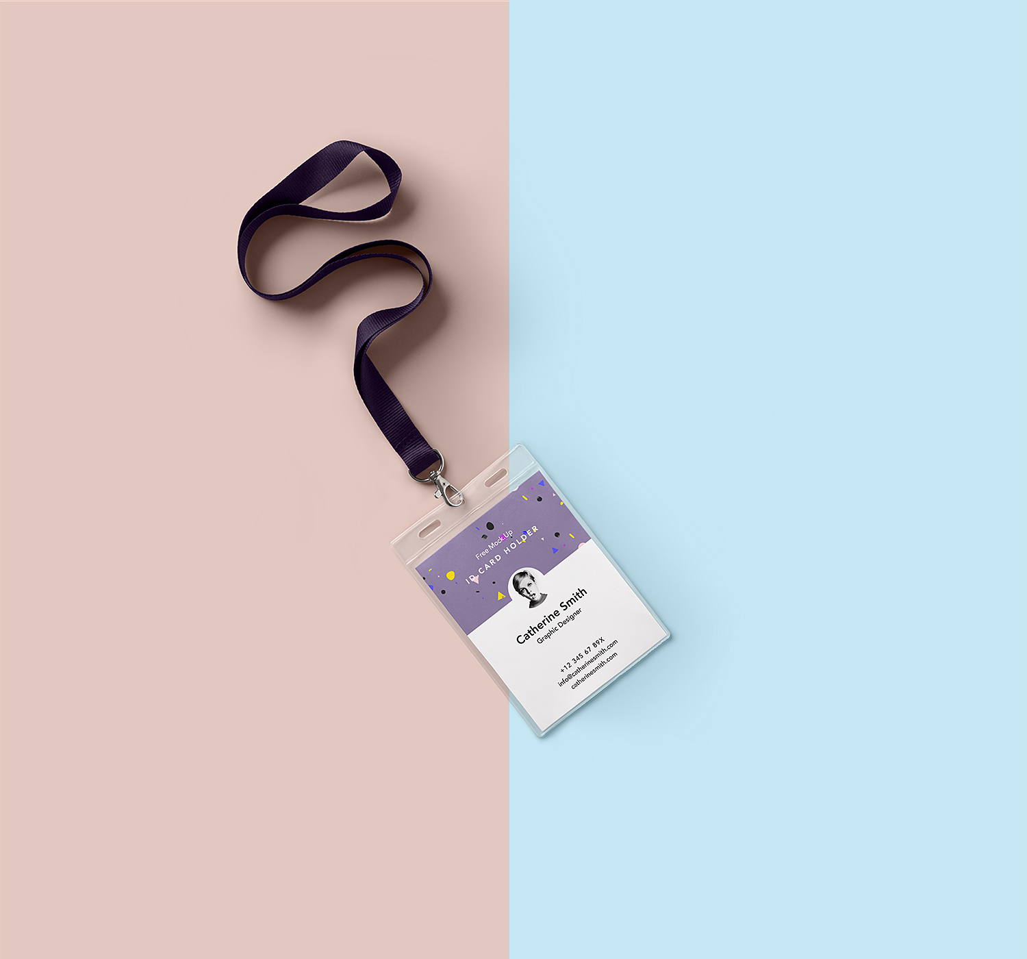 Identity Card Holder Mockup PSD