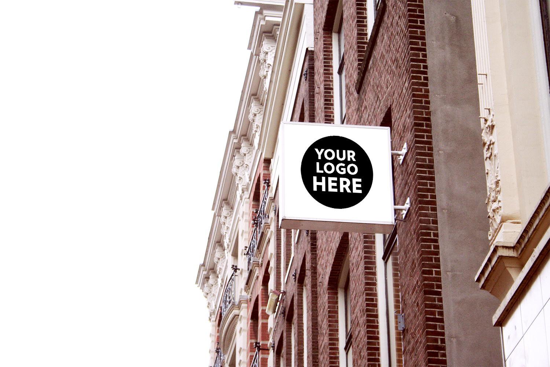 8 Free Shop Restaurant Cafe Office Signs Mockup Best Free Mockups