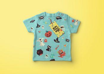Baby T-Shirt Mockup PSD