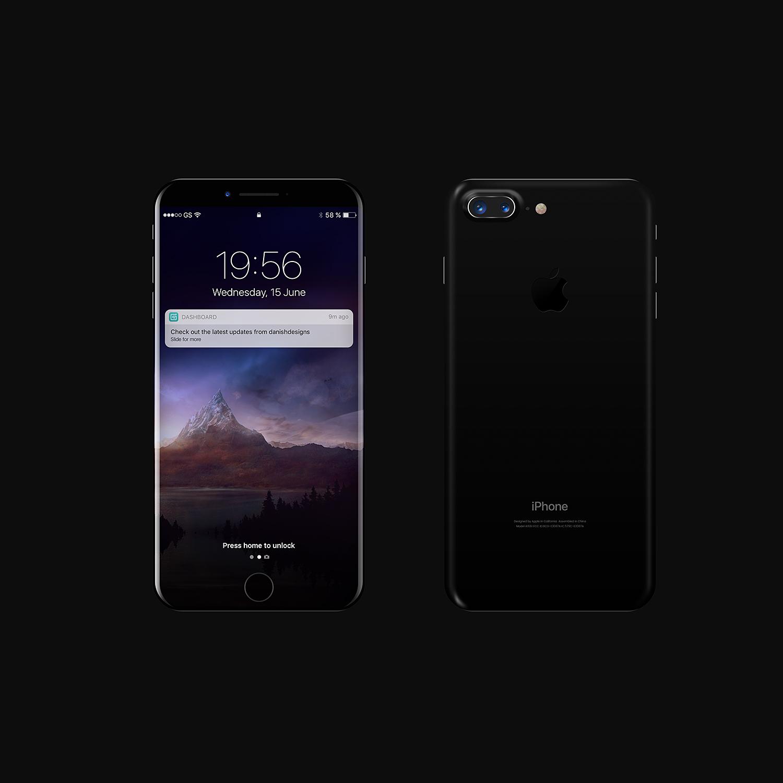 Black iPhone 8 Mockup