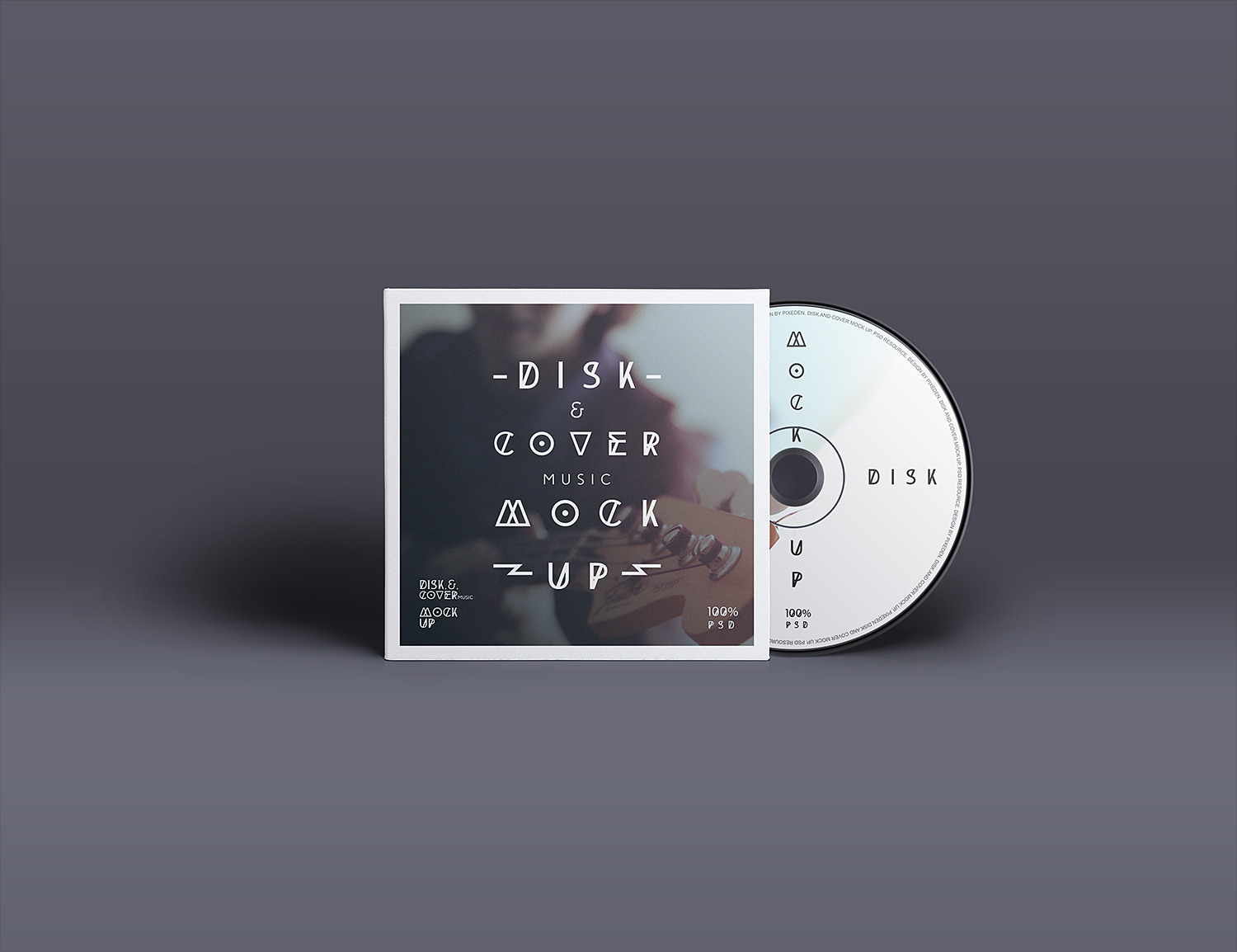 CD Cover Mockup Photoshop PSD