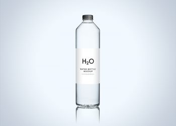 Clean Water Bottle Mockup PSD