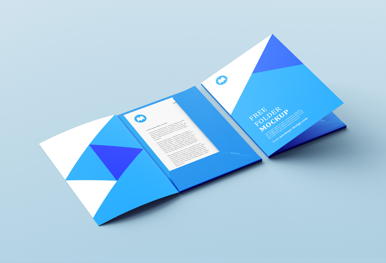 Corporate Folder Mockup PSD