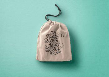 Drawstring Bag Mockup PSD