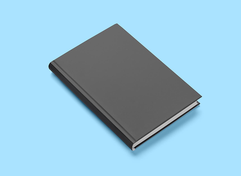 Free Book Hard Cover Mockup PSD