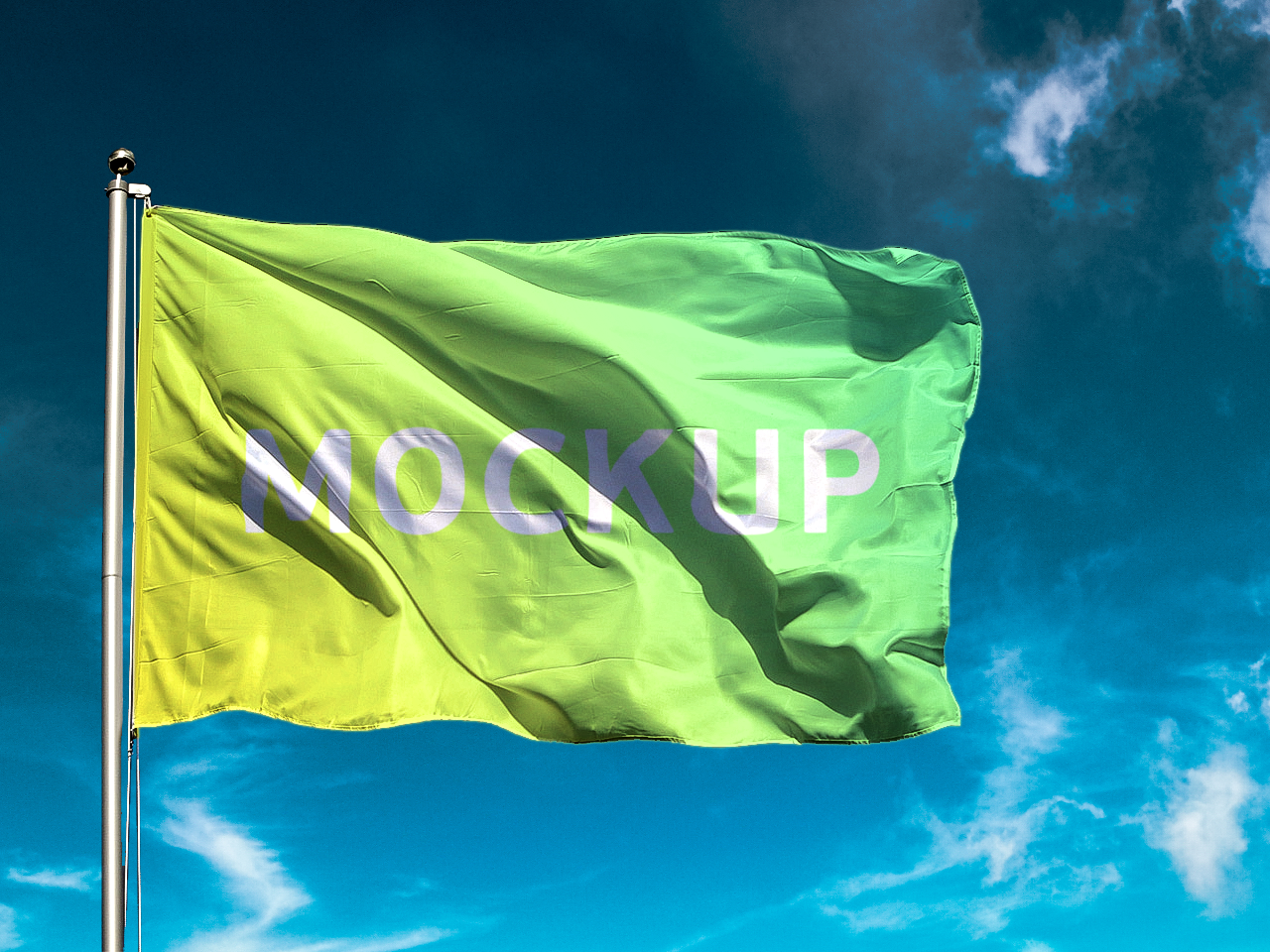 Free Flag Mockup PSD