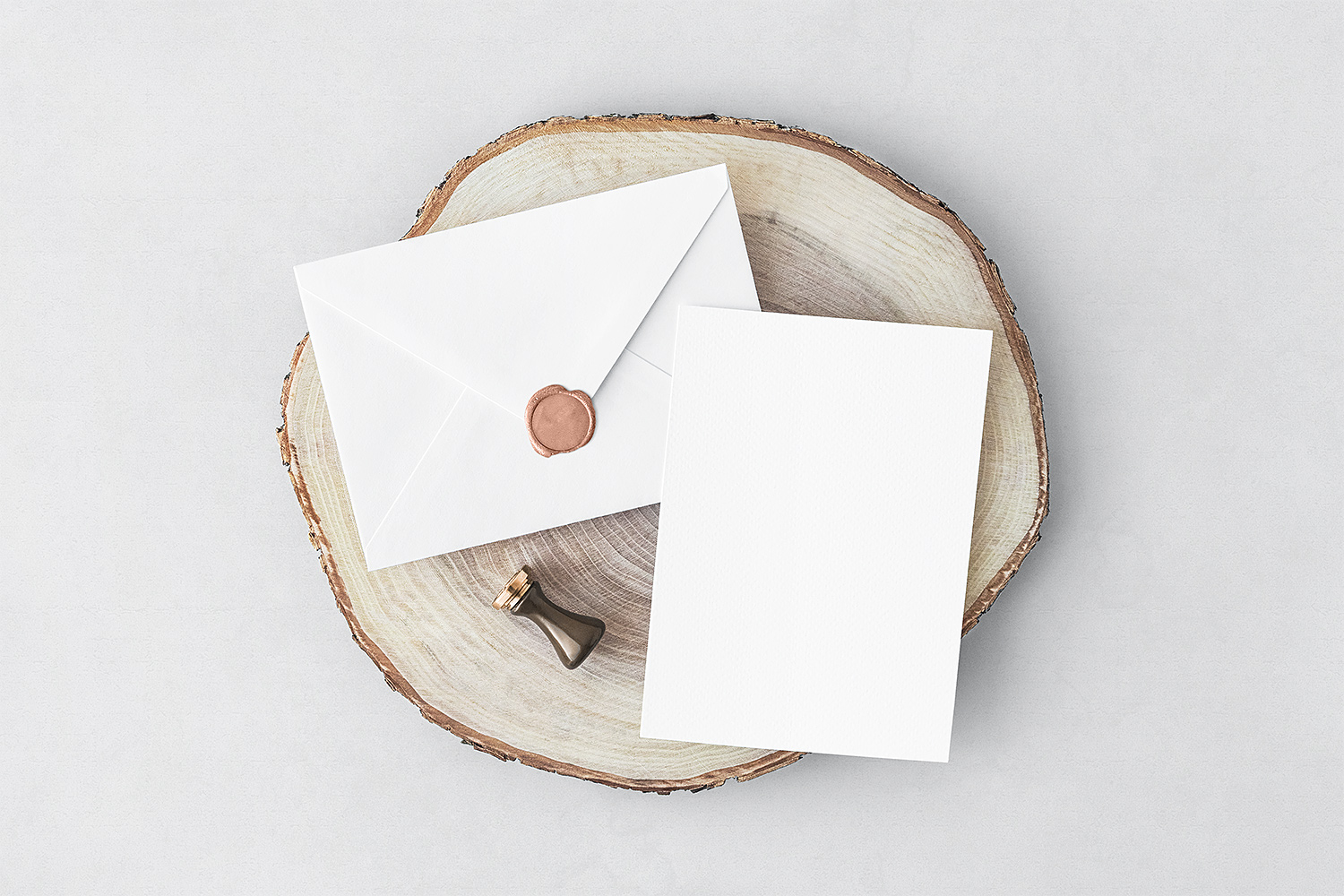 Free Invitation Card with Envelope Mockup