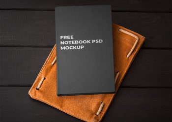Free Realistic Notebook Mockup PSD