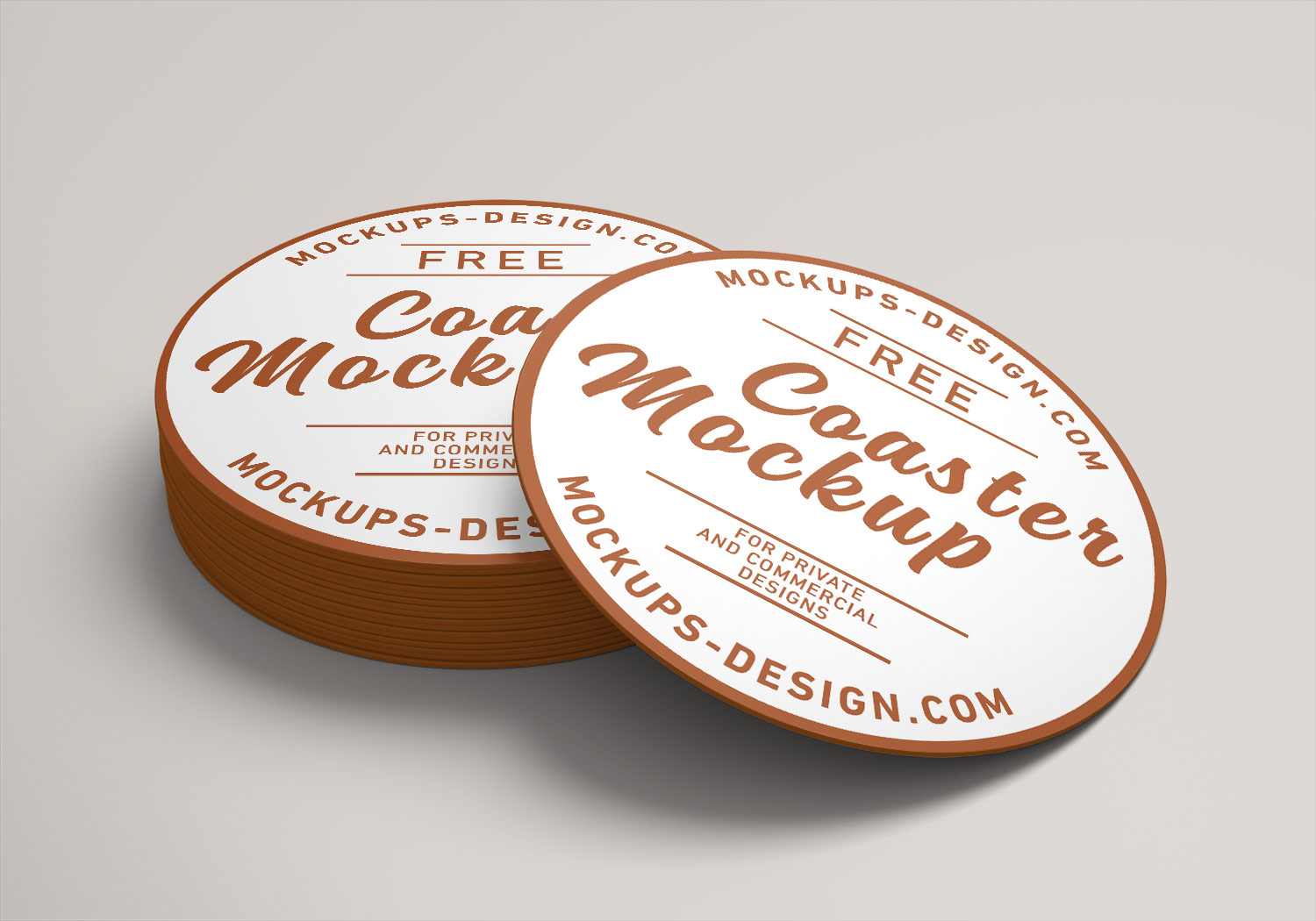 Round Drink Beverages Coaster Mockup PSD