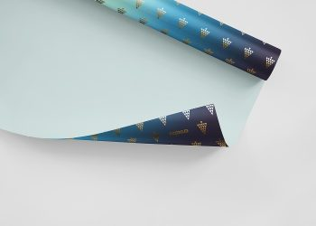 Gift Wrapping Paper Mockup PSD