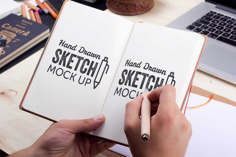Hand Drawn Sketch Mockup