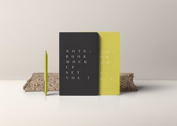 PSD Notebook Mockup Set Vol. 2