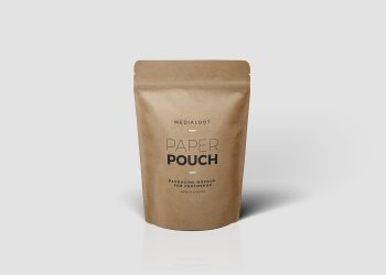Paper Pouch Packaging Free PSD Mockup