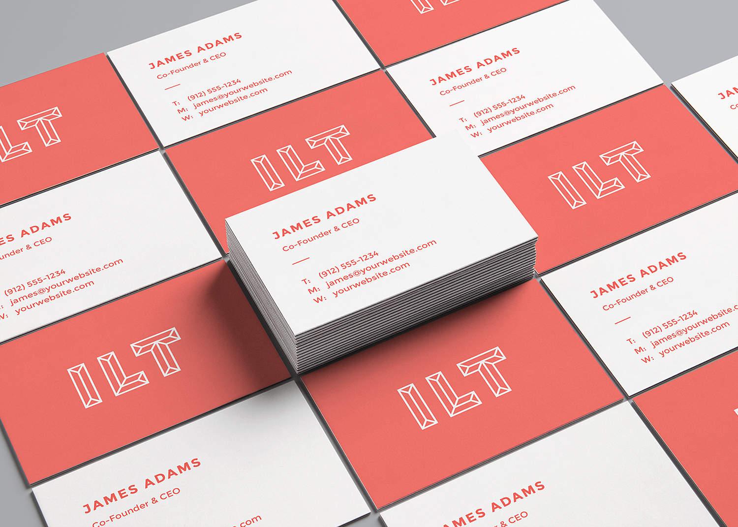 Perspective Business Cards Mockup Vol. 2
