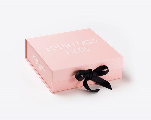 Pink Gift Box Mock-Up