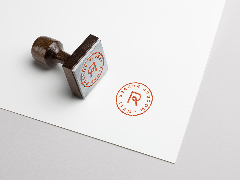 Rubber Stamp PSD Mockup Vol. 3
