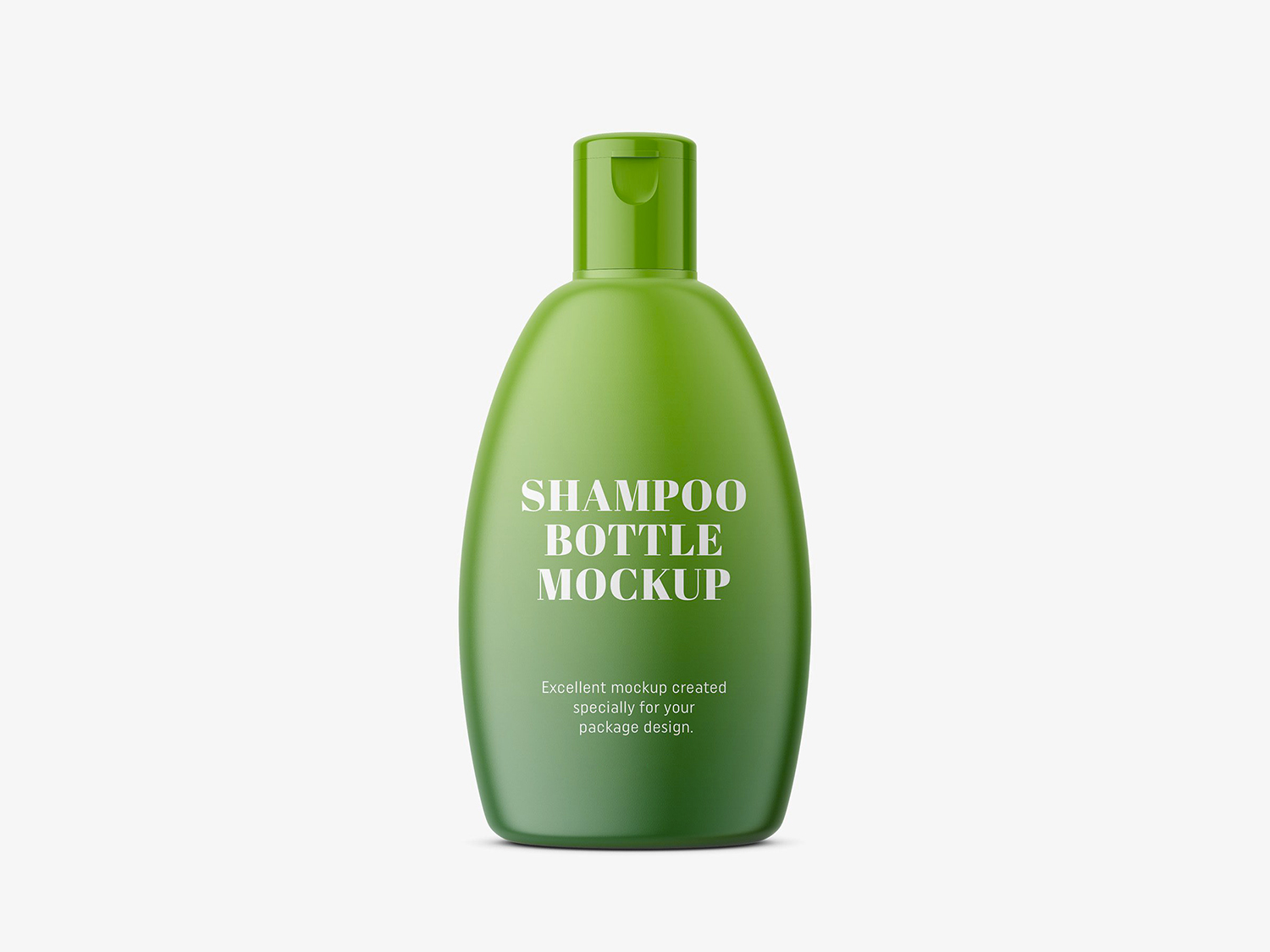 Shampoo Bottle Packaging PSD Mockup