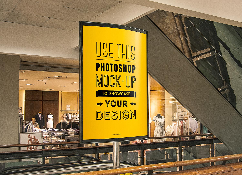 Shopping Center Billboard Mockup
