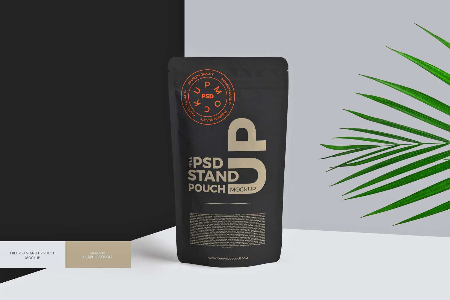 Stand Pouch Mockup Free PSD