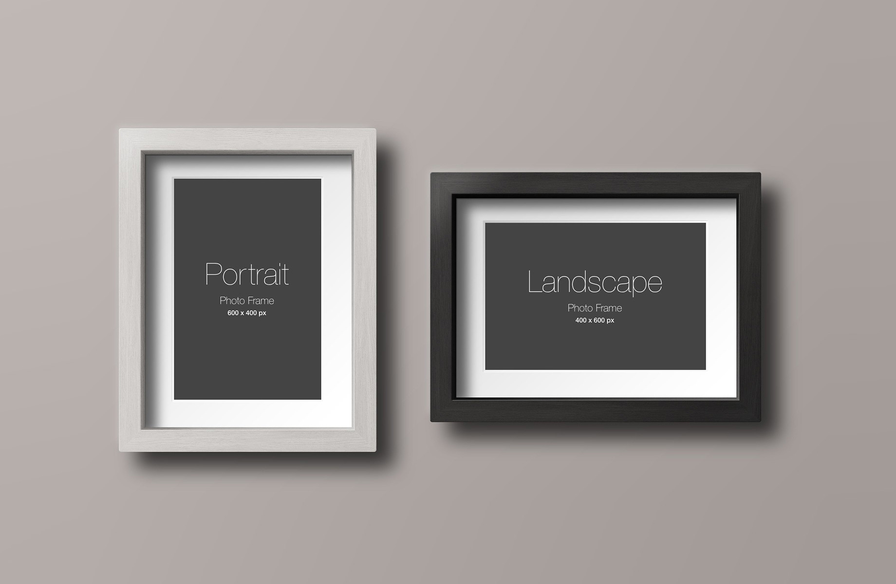 Wood Photo Frame PSD Mockup