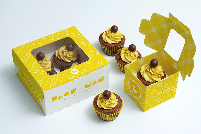 Cupcake Boxes Mockup