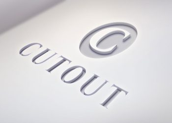 Cutout Logo PSD Mockup