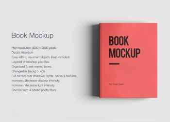 Free Red Book PSD Mockup