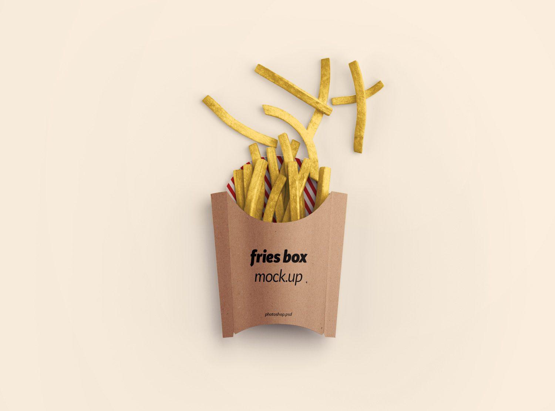 Fries Box Mockup PSD