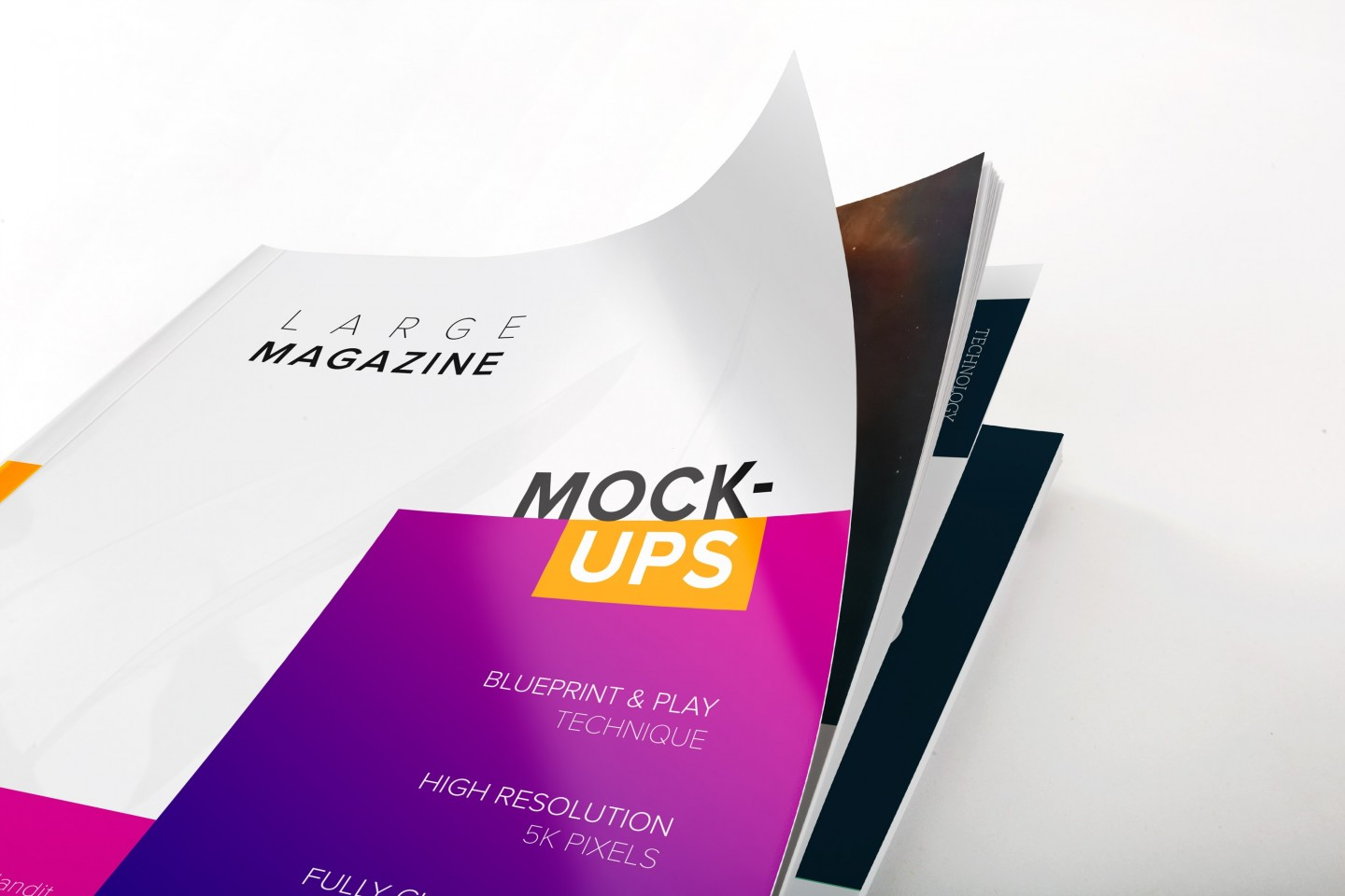 Large Magazine Cover Close View Mockup
