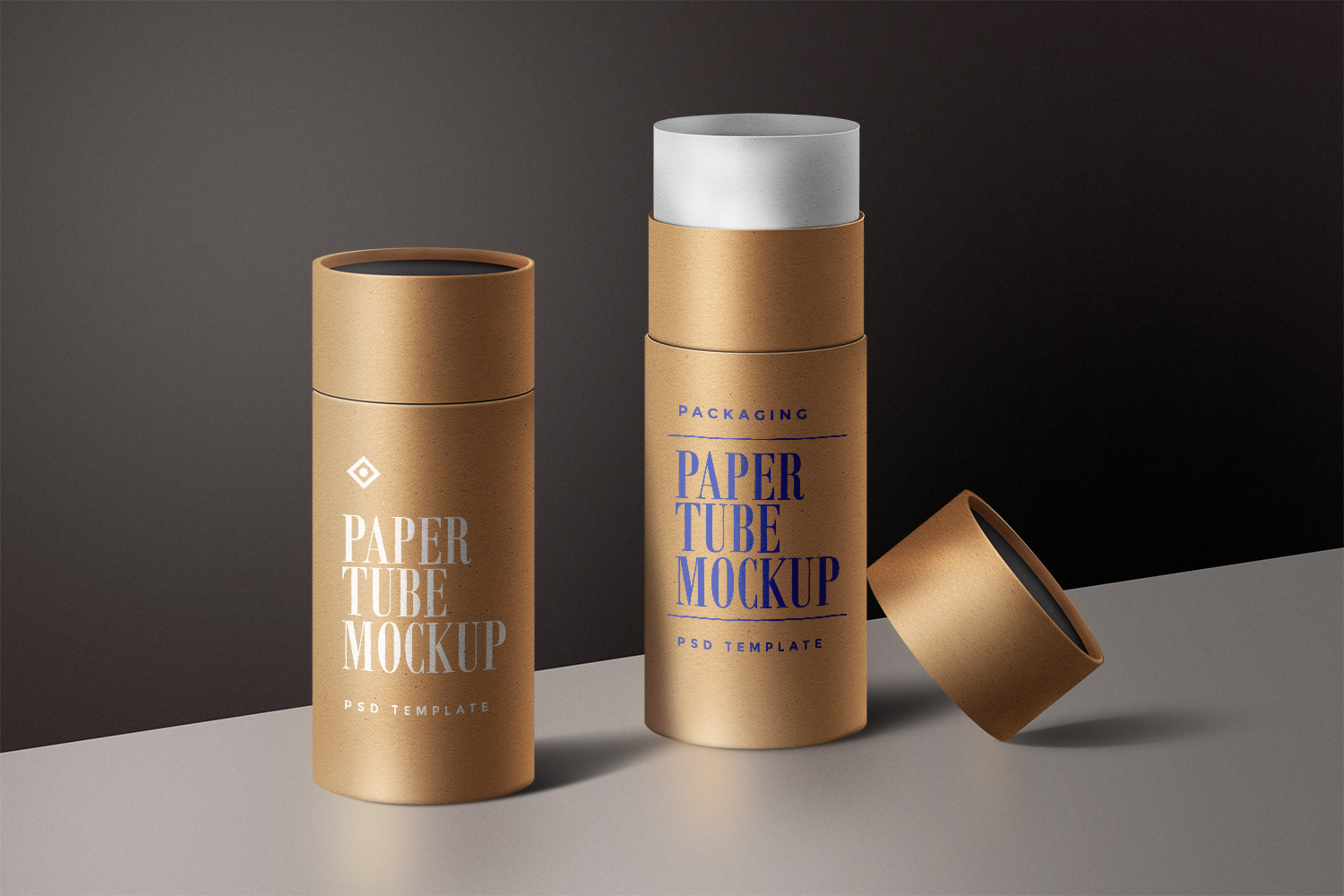 Paper Tube Packaging Mockup Template